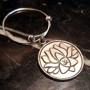 Alex And Ani Lotus Peace Petal Charm Ring Rafaelia